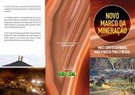 NOVO MARCO DA MINERAÇÃO - Ministério de Minas e Energia