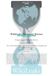 The United States Flag - WikiLeaks CRS reports