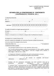 istanza per concessione contributi per manifestazioni e specifiche ...