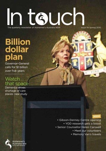 Issue 74 Spring 2010 (PDF) - Alzheimer's Australia