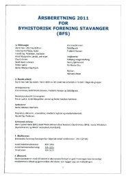 Årsberetning, regnskap og revisjon 2011.pdf - Byhistorisk forening