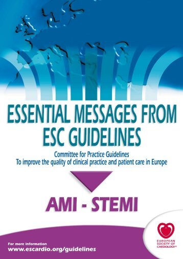 esc guidelines on the management of acute myocardial ... - Cardio