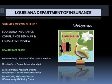 Health Insurance Rate Filing - Louisiana Department of Insurance