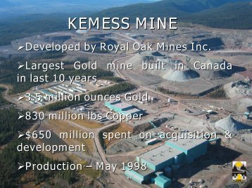MABC - Kemess Mine Presentation - Geoscience BC