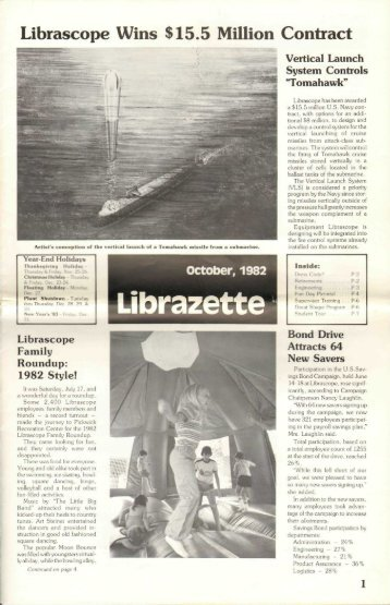 October, 1982 Librazette - Librascope Memories