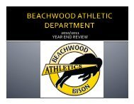 Athletics - Beachwood City Schools