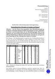 Pressemitteilung Olympia - ProfNet