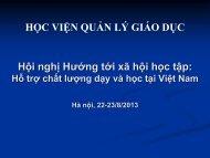 Cán bộ quản lý - PGS.TS. Lê Phước Minh - VVOB