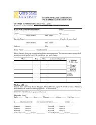 2009 - 2010 Registration Form - Coppin State University