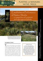 TTT Technical Article: Establishment Performance of Native Shrubs
