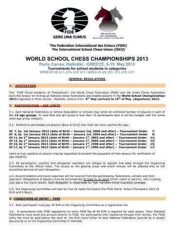 world school chess championships 2013