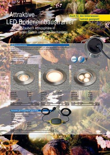Attraktive LED Bodeneinbaustrahler - profitechnik.
