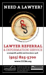 Need a Lawyer? - Contra Costa County Bar Association