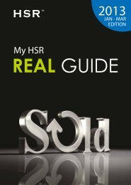 My HSR Real Guide 4th Issue (January-March 2013)