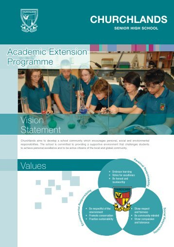 click here for the AEP Brochure - Churchlands Senior High School