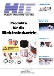 H-tape Produkte für die Elektroindustrie - HIT - Honer Industrietechnik