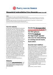 nieuwsbrief mrt 2011 nr 6 def.pdf - PvdA Rotterdam