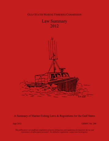Law Summary 2012 - Gulf States Marine Fisheries Commission
