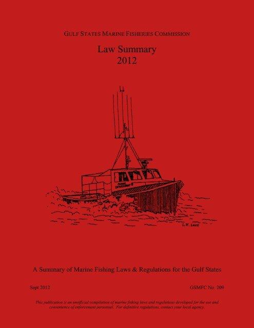 Law Summary 2012 Gulf States Marine Fisheries Commission
