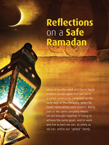 Reflections on a Safe Ramadan - Saudi Aramco