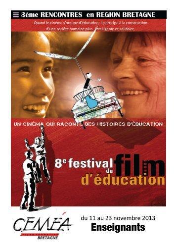 FFE 2013 en région Bretagne - Festival du film d´éducation