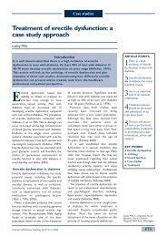 Treatment of erectile dysfunction - Journal of Diabetes Nursing