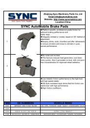 SYNC AUTOMOBILE Brake Pad CATALOGUE