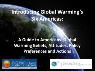 Introducing Global Warming's Six Americas: - Center for Climate ...