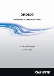 DHD800 (Francais) - Christie Digital Systems
