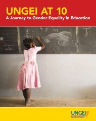 UNGEI at 10: A Journey to Gender Equality in Education