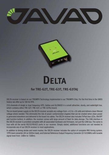 DELTA for TRE-G2T, TRE-G3T, TRE-G3TAJ