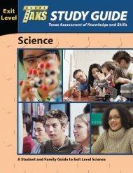 11th grade TAKS Science study guide