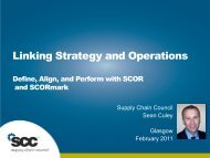 Linking Strategy and Operations - Supply Chain Council