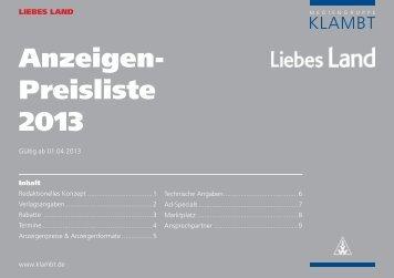 Anzeigen- Preisliste 2013 - Officeformedia.de