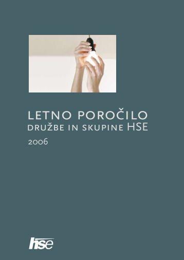 Letno poročilo HSE 2006
