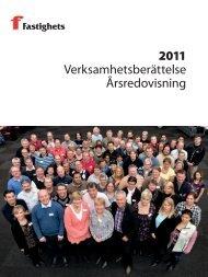 Fastighets verksamhetsberättelse 2011 - Fastighetsanställdas ...