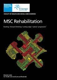 Rehabilitation PcCert/PgDip/MSc module guide - Faculty of Health ...