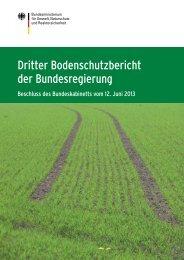Dritter Bodenschutzbericht der Bundesregierung ... - BMU - Bund.de