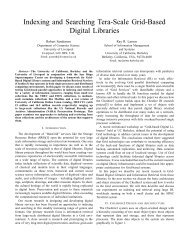 Indexing and Searching Tera-Scale Grid-Based Digital Libraries