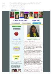 Mentor Program - A Family For Every Child