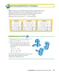 3.3 Introducing Division of Integers You