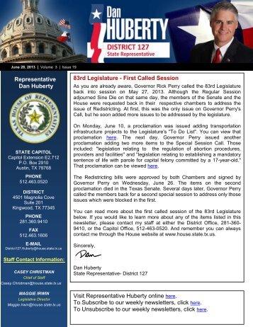 2013 Newsletter 06.28.2013.pdf - Texas House of Representatives