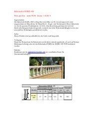 Balustraden SERIE-400 Preis pro lfm netto 99,90 brutto 118,80 €