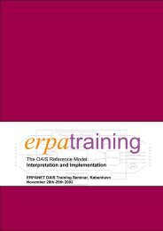 The OAIS Reference Model: Interpretation and ... - Erpanet