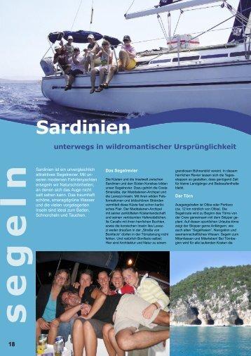 Sardinien unterwegs in wildromantischer  Ursprünglichkeit s e g e ln
