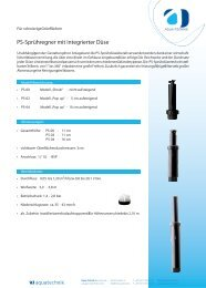 Datenblatt - Aqua Technik