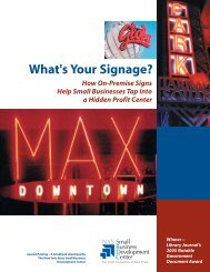 What's Your Signage? - New York State Small Business ...