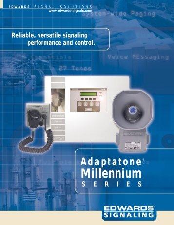 Adaptatone Millennium Brochure - Edwards Signaling