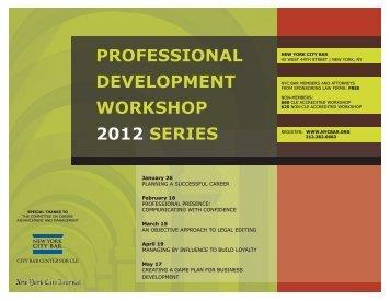 development workshop - New York City Bar Association