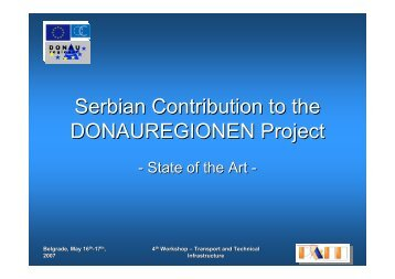 Serbian Contribution to the DONAUREGIONEN Project